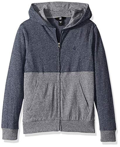 Volcom Big Boys' Wowzer Colorblock Zip up Hooded Sweatshirt, MELINDIGO Medium