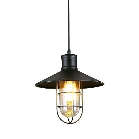 Amazon Com Lightess Matte Black Pendant Lights Kitchen Barn Hanging