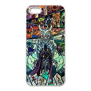 JiHuaiGu (TM) el iPhone 5 5S funda Blancos the Lich King tema personalizado iPhone 5 5S funda AJ3337