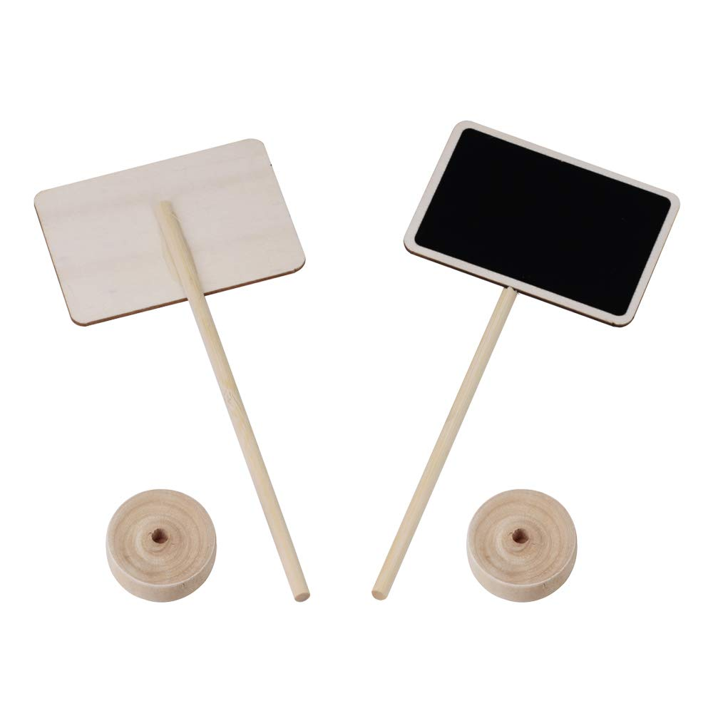 Supla 20 Pcs Mini Chalkboard Tabletop Signs with Stand Place Holders Party Wedding Message Memo Note Board Buffet Table Number Name Plant Signs Candy Bar Food Dessert Markers Table Setting Signs by Supla (Image #2)