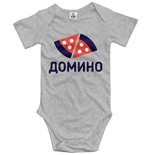 ZGZGZ Domino Pizza Baby Cotton Short Sleeves Bodysuit Infant Creeper Jumpsuit Outfits - Newborn Dominos