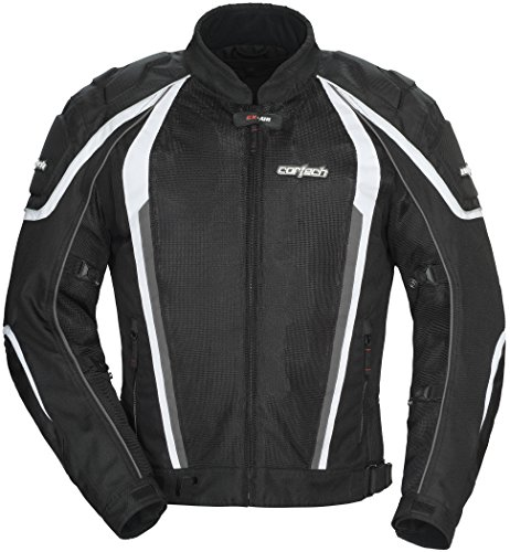 Cortech GX Sport Air 4.0 Adult Mesh Road Race Motorcycle Jacket - Gunmetal/Black Medium