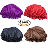 Breathable Thin Satin Sleep Hat for Long Hair,Stretch Soft Smooth Bonnet Cap, Chemo Caps for Women