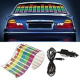 WONFAST® Sound Music Beat Activated Car Sticker Equalizer Rhythm LED Flash Light Audio Voice Rhythm Lamp (90x10cm)