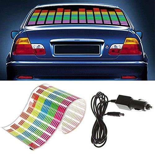 WONFAST Sound Music Beat Activated Car Sticker Equalizer Rhythm LED Flash Light Audio Voice Rhythm Lamp (90x10cm)