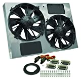 Derale Performance 16927 Gray/Black High Output Dual Radiator Fan