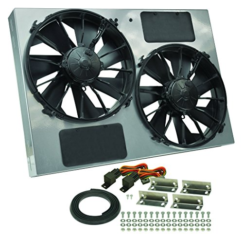 - Derale Performance 16927 Gray/Black High Output Dual Radiator Fan