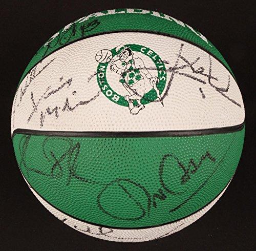 Reggie Lewis + Boston Celtics Legends HOF Signed Full Size Basketball - Slabbed Football ()