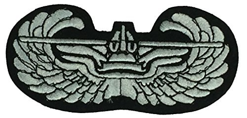 US ARMY GLIDER BADGE PATCH - Black/Silver - Veteran Owned Business - Color - Veteran Owned Business. ()