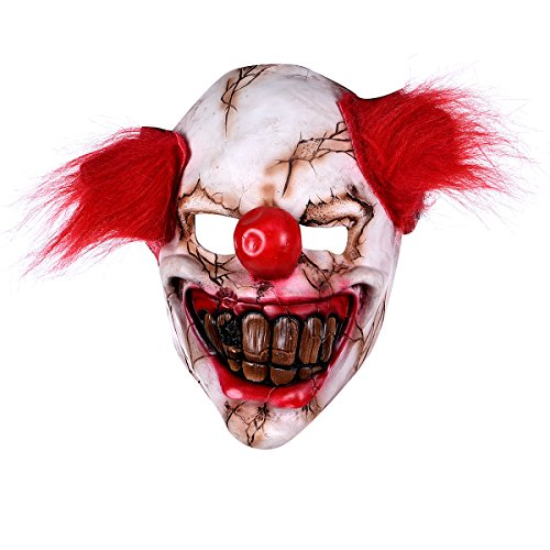 It Stephen King Costume (Hophen Halloween Latex Creepy Clown Mask Adults Masquerade Costume Horror Party Props Masks (Stephen King's It Clown mask ))