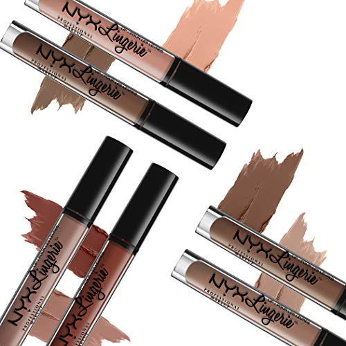 NYX PROFESSIONAL MAKEUP The Perfect Nude Lip KIT 01 Set, Matte Liquid Lipstick Includes Satin Ribbon, Cheekies, Teddy, Cashmere Silk, Exotic, After Hours (6 Shades)