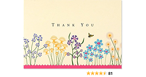 Thank You Deerly Note Card Set   Personalized Thank You Note Cards  Modern Stationery  Set of 10 Folded Shimmer Note Cards T303