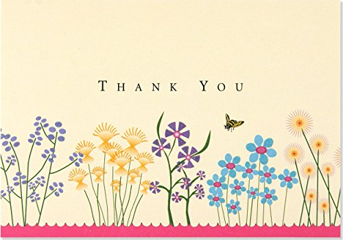 Sparkly Garden Thank You Notes (Stationery, Note Cards)
