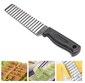 Potato Chip French Fries Wavy Cutter Slicer Vegetable Cutter by Abcstore99