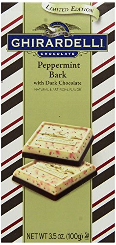 (Ghirardelli Peppermint Bark Dark Chocolate Bar, 3.5 oz., 4 Count)