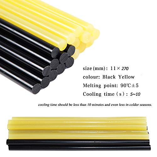 Yellow+White FLY5D/®20Pcs Paintless Dent Repair Tool Car Repair Dent Remover Tool Set Hot Glue Sticks