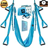 Yoga Swing/Aerial Trapeze Kit with 2 Durable Extension Straps+eBook/Large Inversion Hammock for Indoor and Outdoor Usage with Great Health Benefits/Holds Up to 600 Pounds/Strong Wide Air Fly Sling Set Review