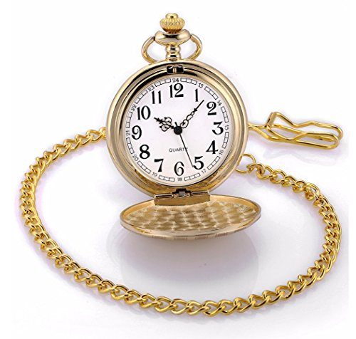 Carrie Hughes Vintage Golden Quartz Pocket watch with Chain CH98 by Carrie Hughes (Image #3)