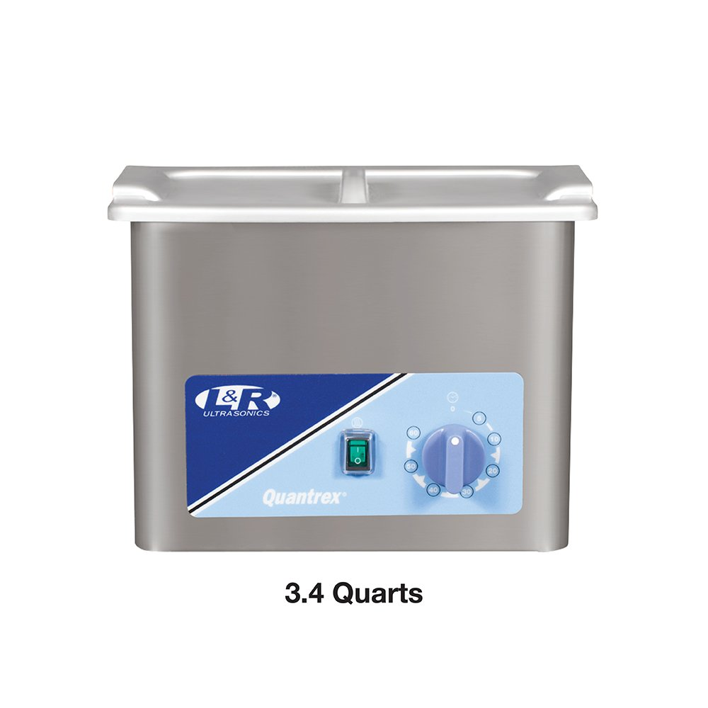 L & R Quantrex Q140 Ultrasonic with Timer & Heater 3 Quart