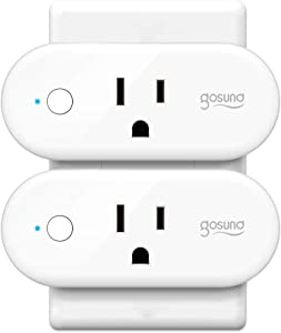 Smart Plug, Gosund 16A Smart Outlet Compatible with Alexa, Google Home, IFTTT for Voice Control, No Hub Required, Wi-Fi Remote Control Your Smart Socket from Anywhere, ETL and FCC Listed (2 Pack)