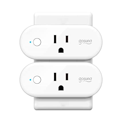 Smart Plug, Gosund 16A Smart Outlet Compatible with Alexa, Google Home,  IFTTT for Voice Control, No Hub Required, Wi-Fi Remote Control Your Smart