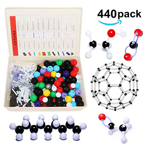 Linktor Chemistry Molecular Model Kit (440 Pieces), Student or Teacher Set for Organic and Inorganic Chemistry Learning, Motivate Enthusiasm for Learning and Raising Space Imagination, A Fullerene Set (Best Molecular Model Kit)