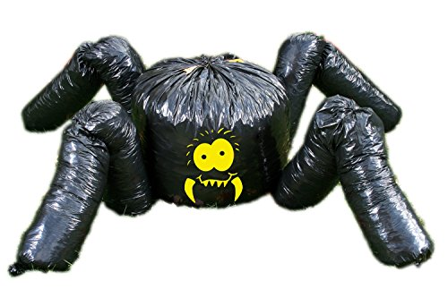 Fun World Unisex-Adult's Giant Spider Leaf Bag-Over 7 Feet, Multi -