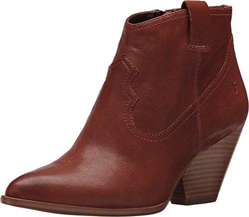 FRYE Women's Cognac Reina Leather Booties Pointed Toe Cognac 8 M