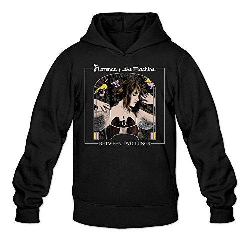 LSLEEVE Men's Lungs Florence And The Machine Hoodie Black - Hut Florence