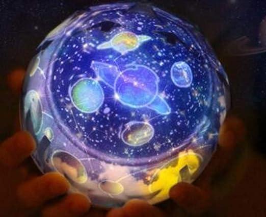 XIONGXI Lámpara de cabecera lámpara de Mesa proyector Planeta ...