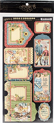 Graphic 45 Penny's Paper Doll Family Tags and Pockets-Die-Cut Cardstock (Doll Tag)