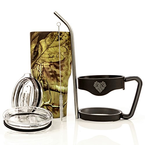 HD Special Edition Kanati Camo 30 Oz Stainless Steel Vacuum Insulated Ultimate Tumbler Set (Includes Double Wall Mug, Handle, Sliding Lid, Standard Lid, Angled Straw and Pipe Brush)