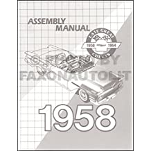 1958 Chevy Car Assembly Manual Biscayne Bel Air Impala El Camino Nomad