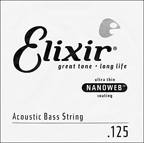 (Elixir Strings 80/20 Bronze Acoustic Bass Single String with NANOWEB Coating (.125) )