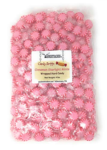 Yankee Traders Brand Cinnamon Starlight Mints Wrapped Candy, 4 Pound