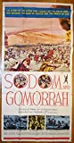 Sodom And Gomorrah (1962) Original U.S. Three Sheet Movie Poster 41x81 Folded Fine Condition ANOUK AIMEE STANLEY BAKER STEWART GRANGER PIER ANGELI ANTHONY STEFFEN ROSSANA PODESTA Film directed by ROBERT ALDRICH