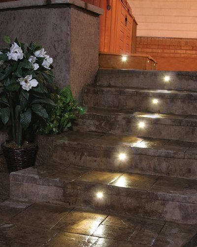 amazon com dekor recessed led stair light 8 light outdoor deck