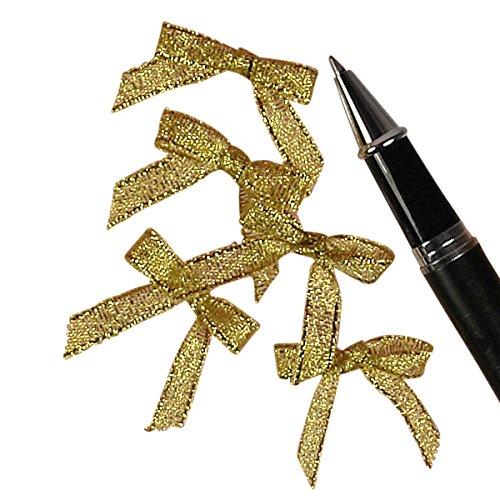 Gold Metallic Lurex Bow Tie, 1-1/8