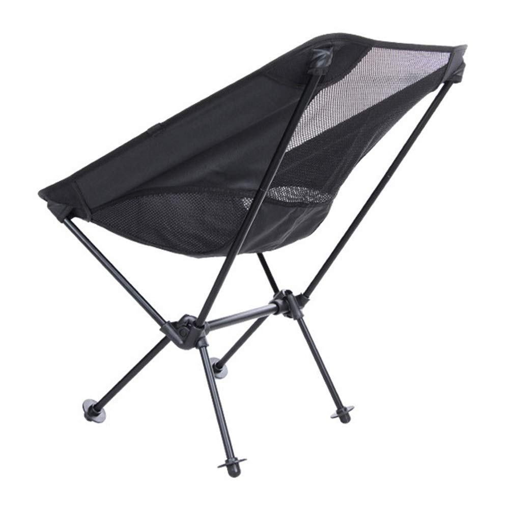 Folding Chair Multi-Function Folding Chair Outdoor Camping Leisure Black Folding Chair (Color : Black, Size : 536731cm)