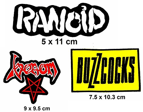 Rock Heavy Music_Set Rancid Venom Buzzcocks Music Metal Punk rock patch Iron on Logo Vest Jacket cap Hoodie Backpack Patch Iron On/sew on patch - Venom Costume Diy