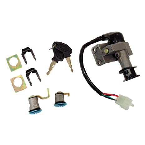 Ignition Key Set Complete with Ignition Switch and Locks for 50cc 4 on