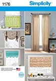 roman shade pattern Simplicity Patterns US1176OS Window Treatments, OS (ONE Size)