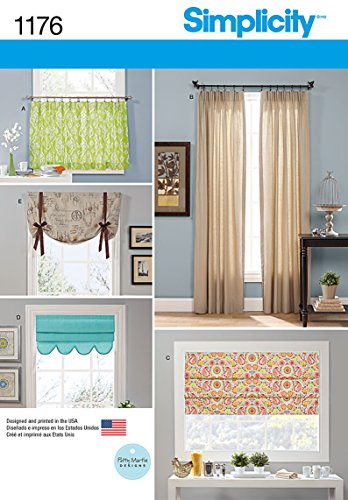 Simplicity Patterns US1176OS Window Treatments, OS (ONE SIZE) Sewing Patterns Drapes