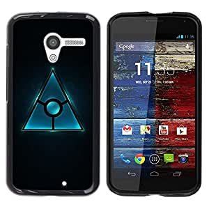 Be Good Phone Accessory // Dura Cáscara cubierta Protectora Caso Carcasa Funda de Protección para Motorola Moto X 1 1st GEN I XT1058 XT1053 XT1052 XT1056 XT1060 XT1055 // Triangle D