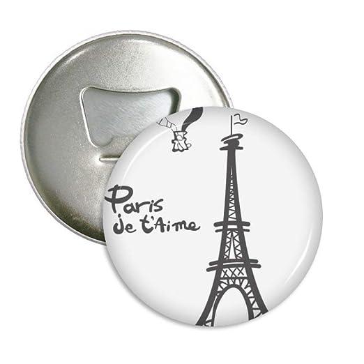 Silueta de París de la torre Eiffel de Dibujo de líneas redondo ...