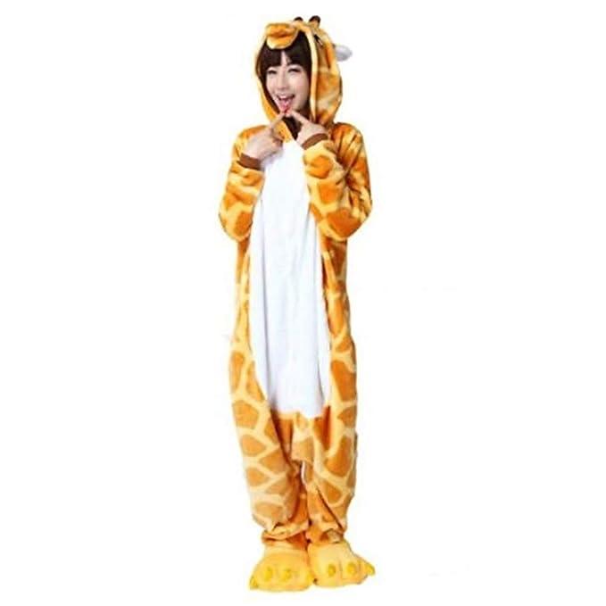 Unisex Pijamas Traje de Cosplay para Adultos, Pijamas Jirafa Unidos, Pijamas Animales Halloween, Pijamas de la Novedad: Amazon.es: Ropa y accesorios