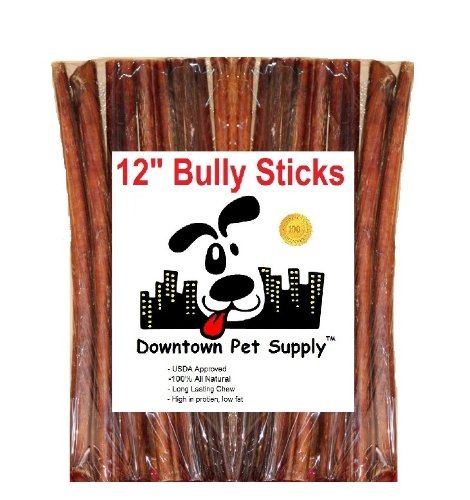12-BULLY-STICKS-Large-Select-Thick-Dog-Chew-Treats-12-inch-by-Downtown-Pet-Supply
