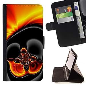 Momo Phone Case / Flip Funda de Cuero Case Cover - El oro caliente de la lava Dark Fire - MOTOROLA MOTO X PLAY XT1562