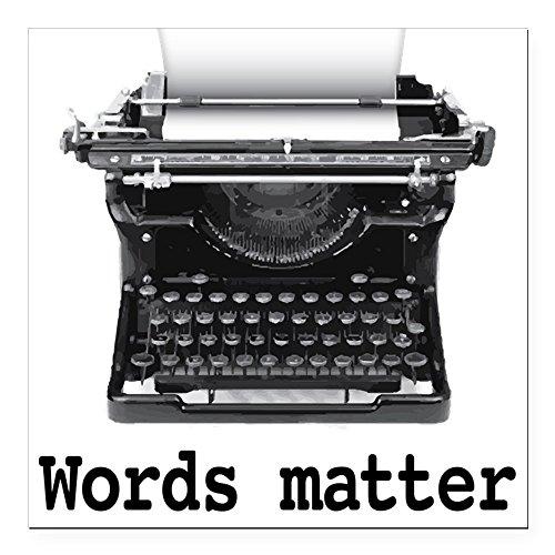 CafePress - Words Matter Square Car Magnet 3