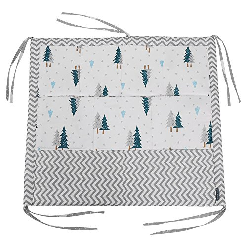 Hanging Storage Bag - Baby Crib Hanging Storage Bag9 Pockets Baby`s Cot Toy Diaper Organizer(Green Tree)